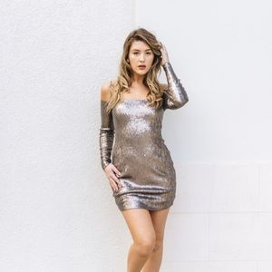 Express Sequin dress NWT